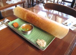 Davie Dosa Company - What is a Dosa - Dosa on a table